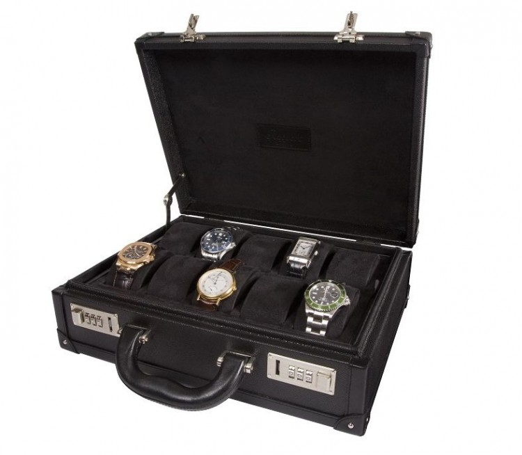 Арт. L266. Кейс для хранения 10-ти часов. 10 WATCH ATTACHE CASE. Rapport London (Англия).
